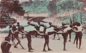 Aborygeni podczas jedno z rytuałów - historia Australii