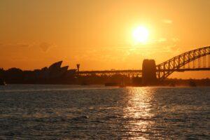 Sydney o zachodzie Słońca