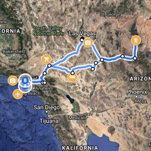 mapa atrakcji droga 66
