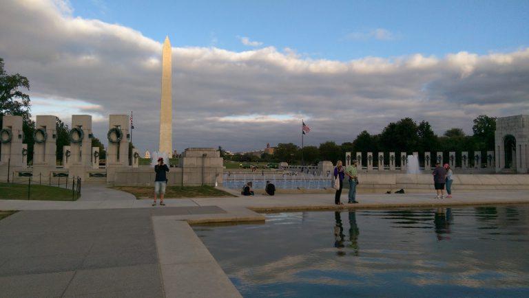 Pomnik Waszyngtona, park The Mall, Waszyngton