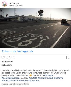 Droga 66 - instagram zLukaszem - przewodnik USA