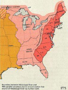 Mapa USA - 13 kolonii - przewodnik internetowy