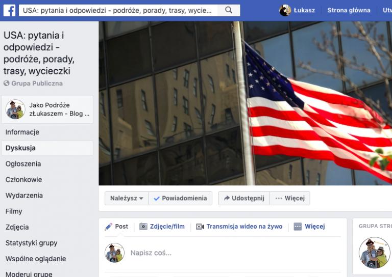 Grupa Facebook USA pytania i odpowiedzi zLukaszem