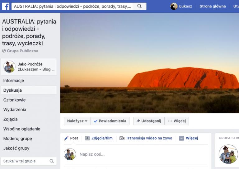 Grupa Facebook AUSTRALIA pytania i odpowiedzi zLukaszem