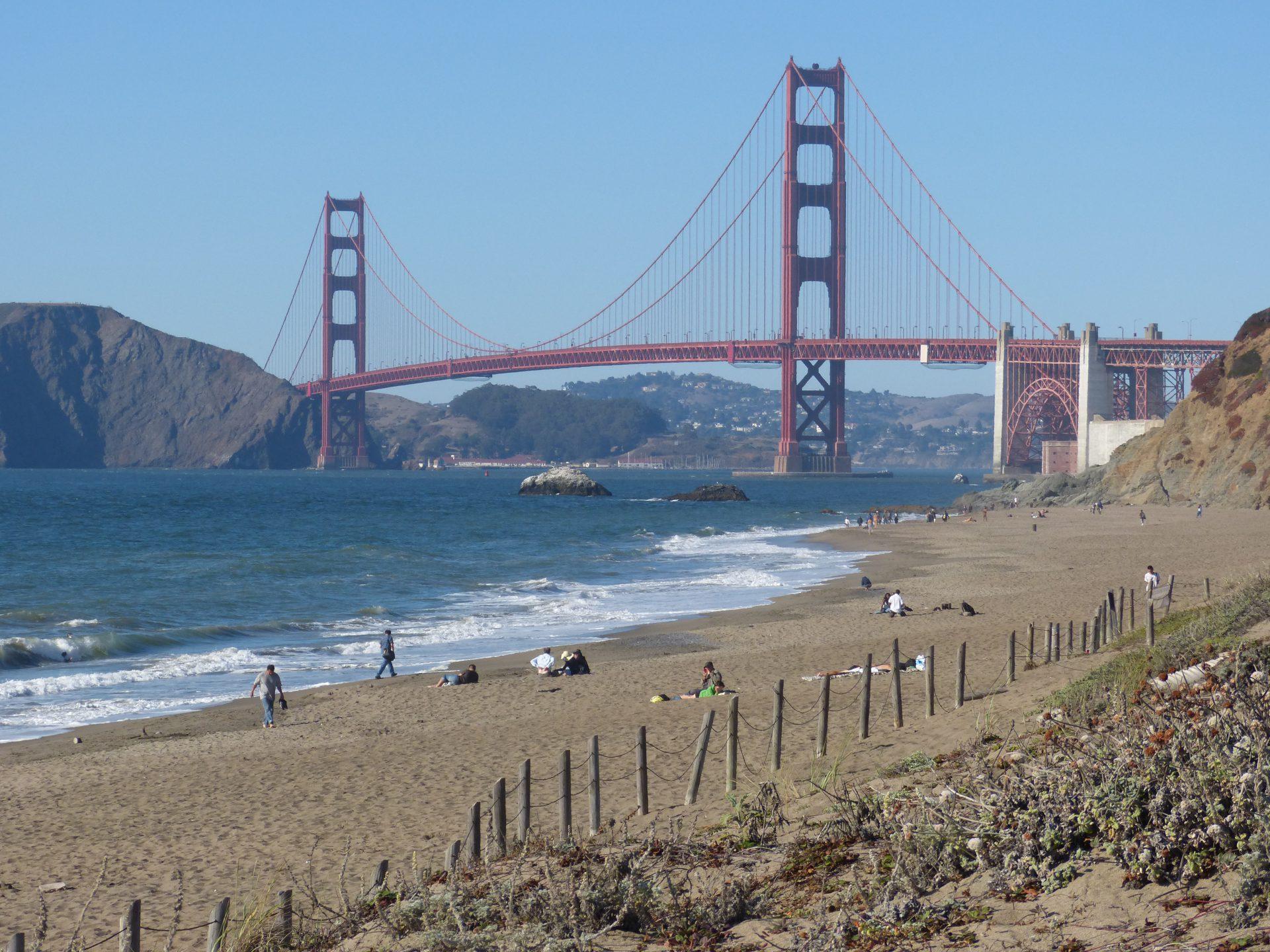 USA - najważniejsze atrakcje - Most Golden Gate, San Francisco