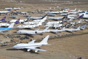 Nietypowa atrakcja w Kalifornii: Złomowisko samolotów na pustyni Mojave