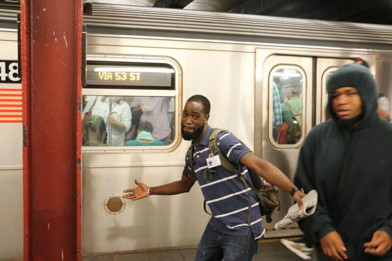 Pasażer metra w Nowym Jorku