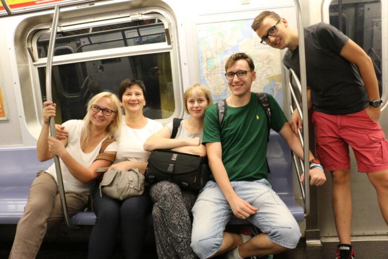 Wnętrze metra w Nowym Jorku