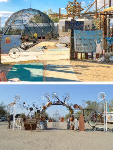 Slab City - artystyczne rzeźby i przyczepy campingowe