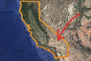 mapa pustynie i atrakcje Kalifornia