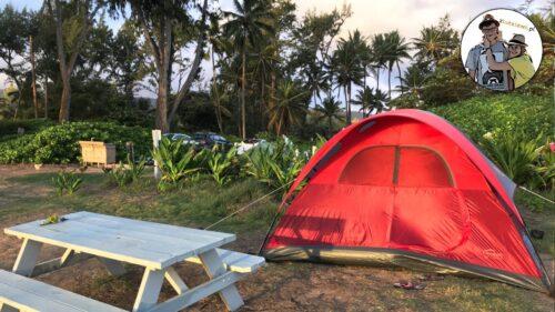 Nocleg na Hawajach. Rajskie lotnisko i namiot przy plaży (Oahu)