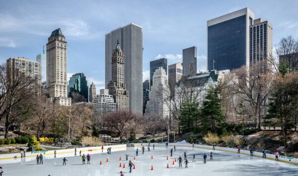 Lodowisko Wollman w Central Park - święta w Nowym Jorku