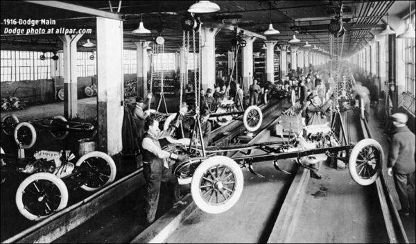 Polscy pracownicy w fabryce Dodge