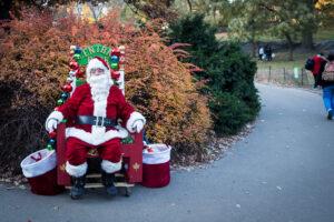 Święty Mikołaj w Central Parku
