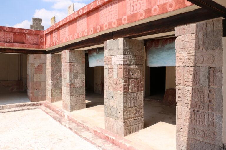 Fragment pałacu w Teotihuacán