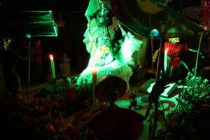 Grób podczas Dia de Muertos