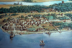 Jamestown w 1614 roku - Pierwsi Polacy w Ameryce