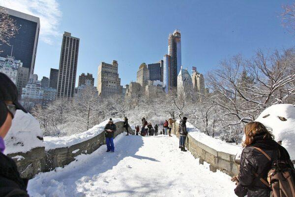Central Park zimą - święta w Nowym Jorku