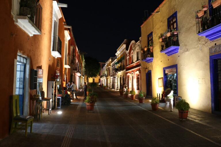 Puebla kolorowe budynki