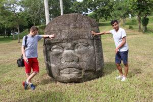 La Venta - olmecka głowa w Meksyku