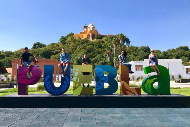 Puebla - napis powitalny w Cholula