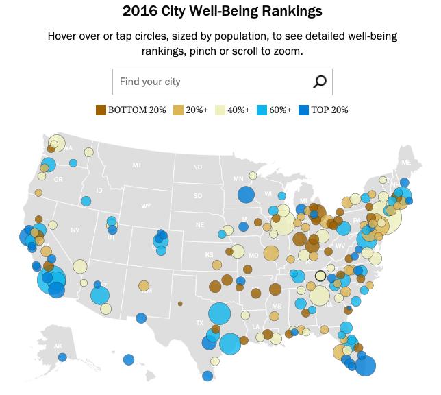gdzie w usa żyje się najlepiej? Mapa