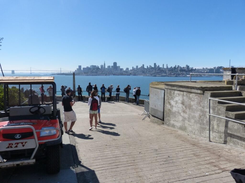 Widok z Alcatraz na San Francisco