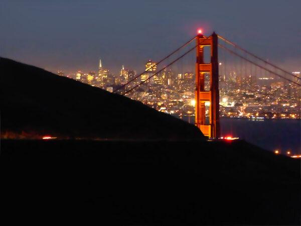 San Francisco - Golden Gate nocą. Co zobaczyć w San Francsico?