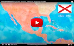 Historia Meksyku - Nowa Hiszpania mapa
