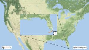 Overseas Highway na Florydzie - trasa zwiedzania USA, mapa