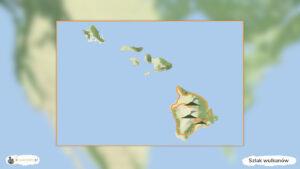 Szlak wulkanów hawajskich - trasa podróży po USA, mapa Hawajów