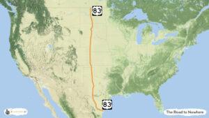 Road to Nowhere - trasa zwiedzania USA, mapa