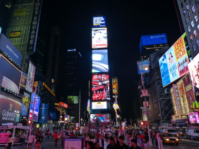 Times Square początek drogi Lincoln Highway