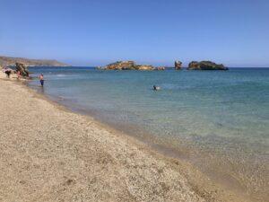Zejście do morza na plaży Wai
