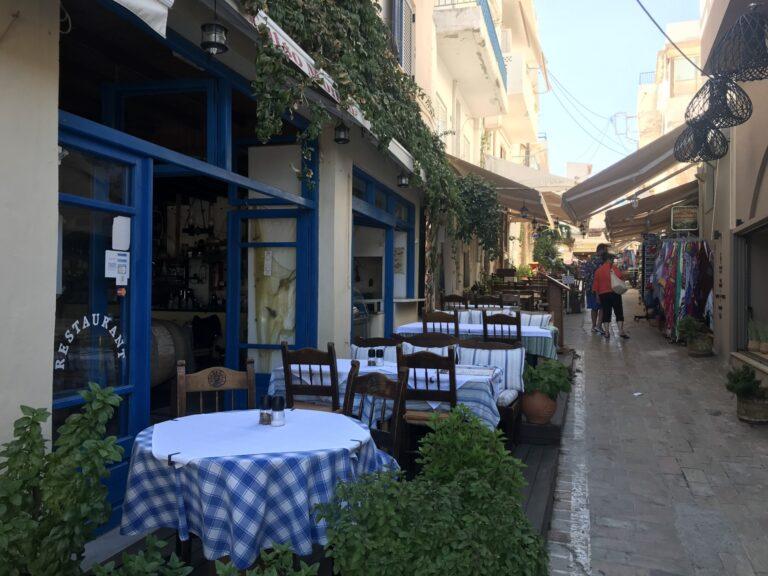 Uliczki w Agia Galini, Kreta