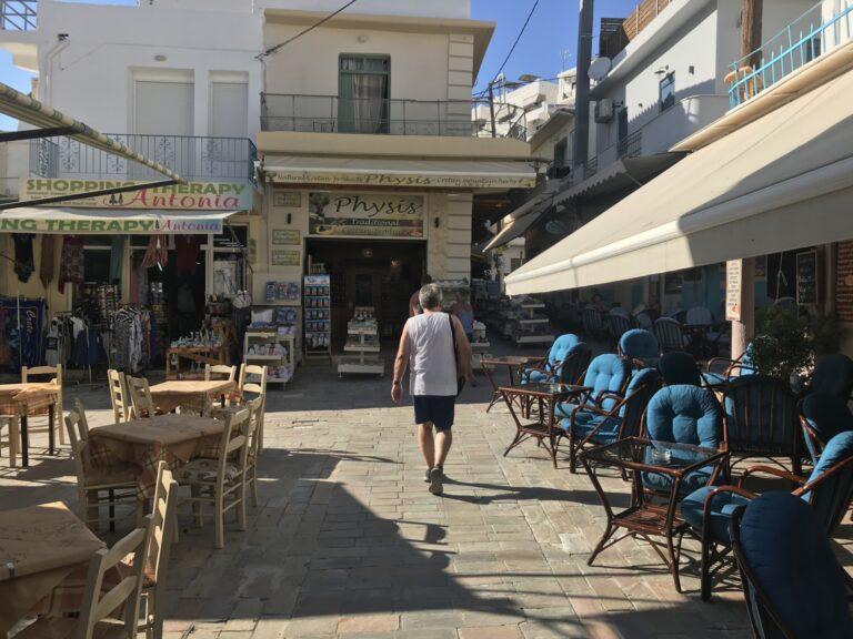 Knajpki w Agia Galini, Kreta