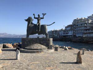 Pomnik Zeusa i Europy w Agios Nikolaos, Kreta