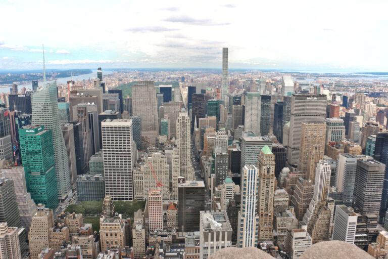 Panorama Nowego Jorku z Empire State Building