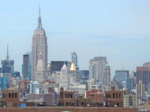 Panorama Nowego Jorku z Brooklyn Bridge